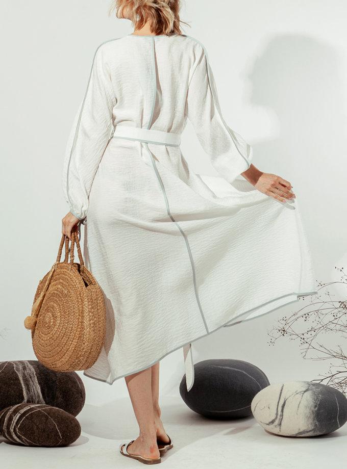 Платье на запах MMT_022b-white, фото 1 - в интернет магазине KAPSULA