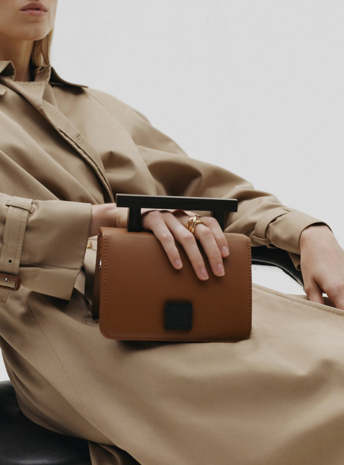 Кожаная сумка Small Nicole Bag in Brown LPR_NI-BA-S-Brown, фото 1 - в интернет магазине KAPSULA