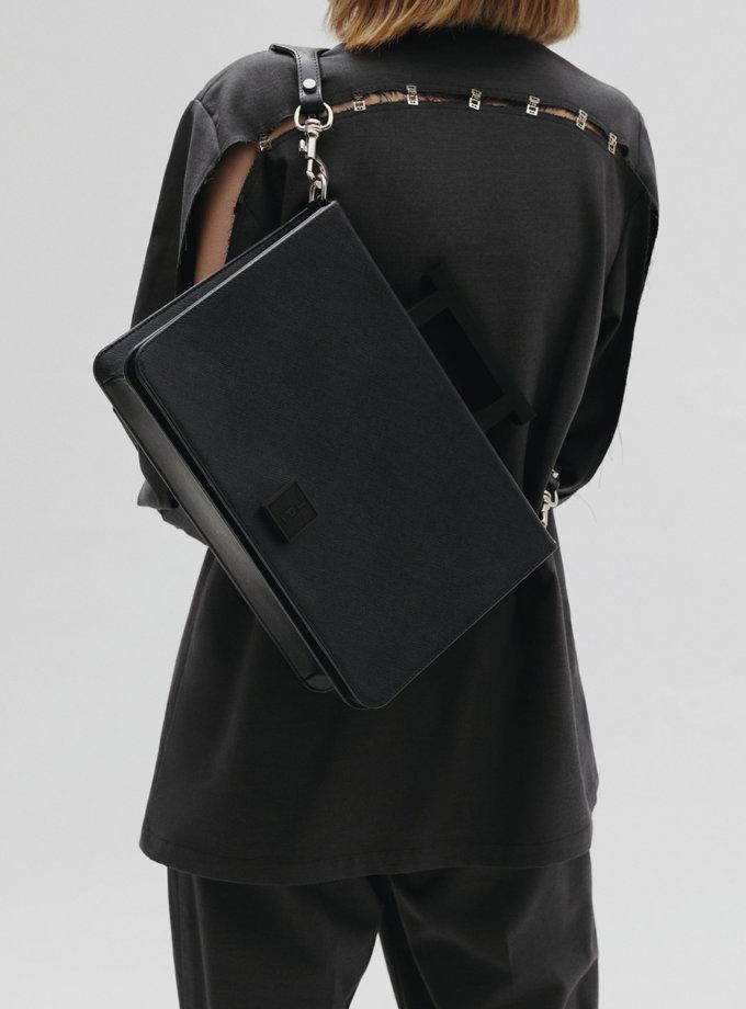 Шкіряна сумка Large Nicole in black LPR_NI-BA-L-black, фото 1 - в интернет магазине KAPSULA