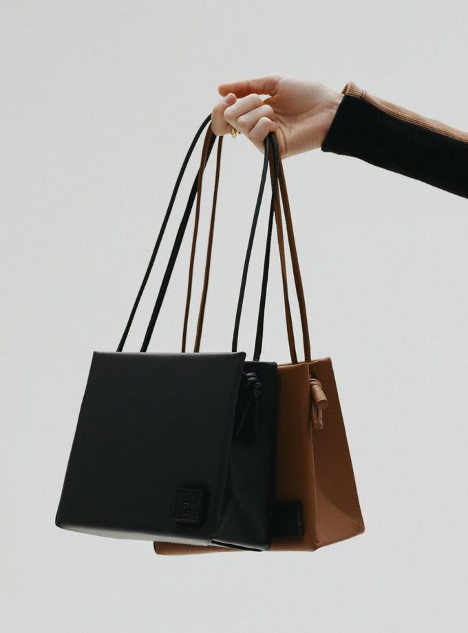 Шкіряна сумка Square Bag in Black LPR_SQ-BA-M-Black, фото 1 - в интернет магазине KAPSULA