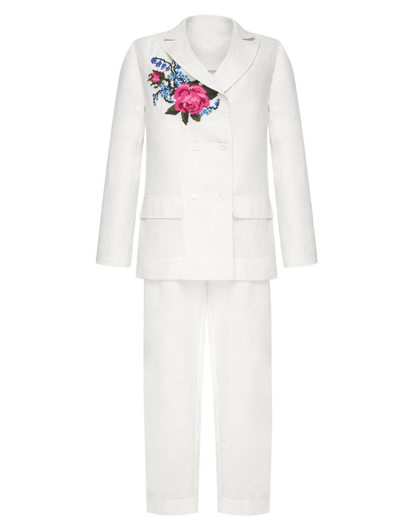 Льняной костюм Роза с вышивкой FOBERI_SS20042, фото 1 - в интернет магазине KAPSULA