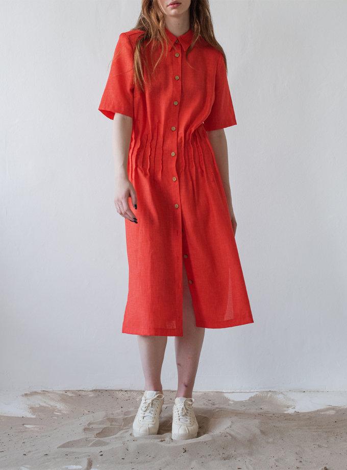 Платье-рубашка из хлопка NNB_DRESSCORSET, фото 1 - в интернет магазине KAPSULA