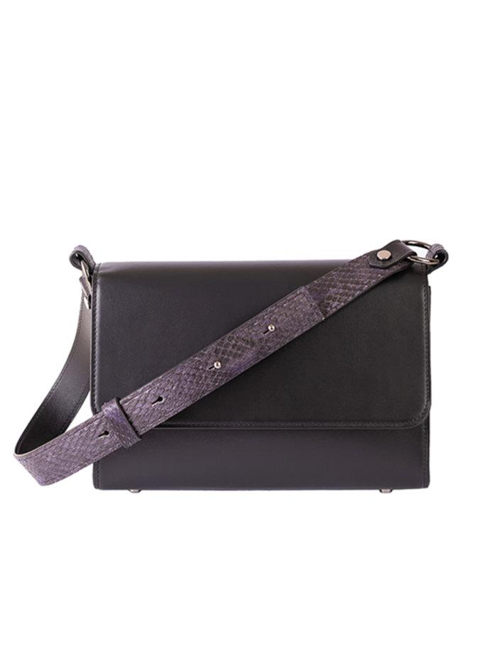 Сумка з регульованою ручкою з пітона black BRND_bernardbags_2021-3, фото 1 - в интернет магазине KAPSULA