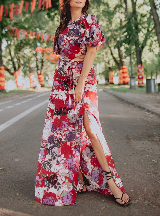 Платье макси с открытой спиной AY_3216, фото 1 - в интернет магазине KAPSULA