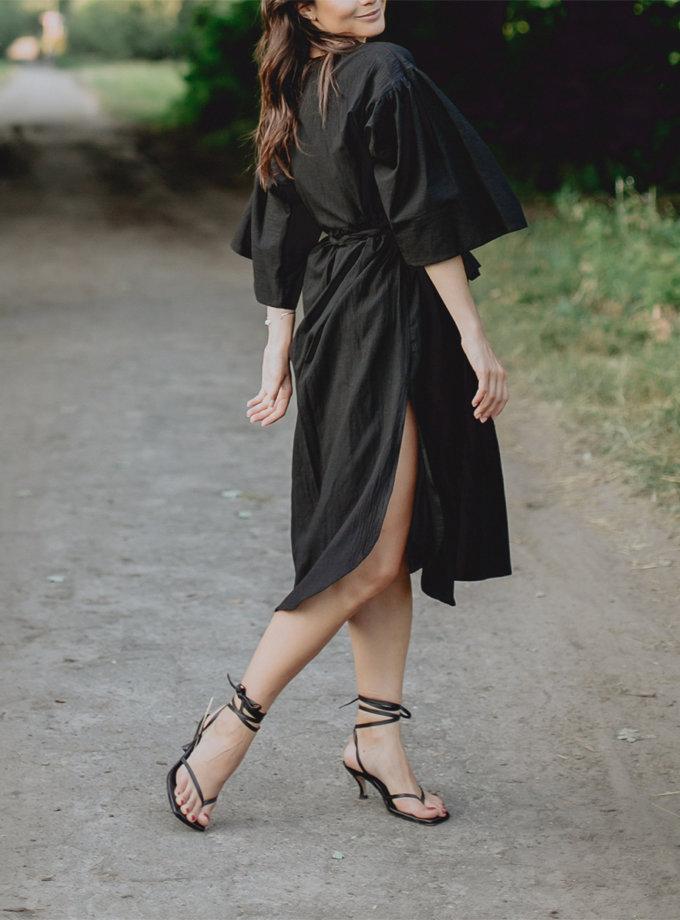 Хлопковое платье миди с поясом AY_3221, фото 1 - в интернет магазине KAPSULA