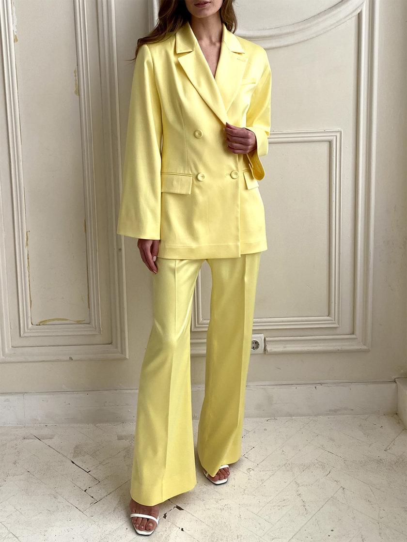 Костюм с приталенным жакетом и брюками LUSSO_SS21_2, фото 1 - в интернет магазине KAPSULA