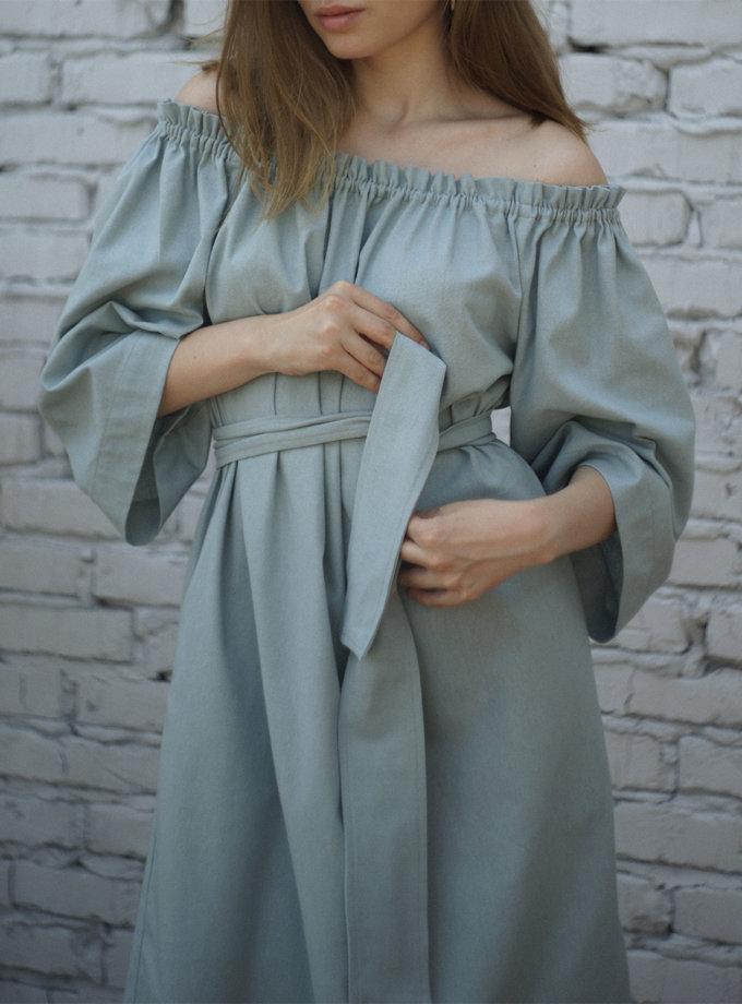 Платье бохо из льна SNDR_SSR20b, фото 1 - в интернет магазине KAPSULA