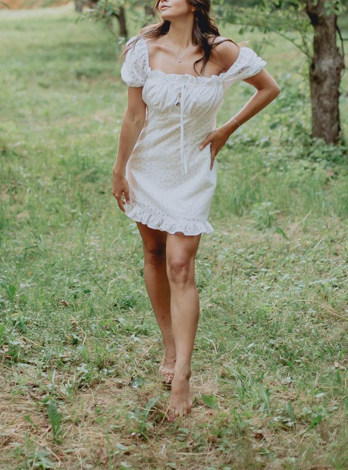 Хлопковое платье с рукавами фонариками AY_3223, фото 1 - в интернет магазине KAPSULA