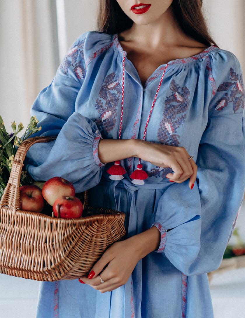 Льняное платье миди Клэр Шик FOBERI_SS20127, фото 1 - в интернет магазине KAPSULA