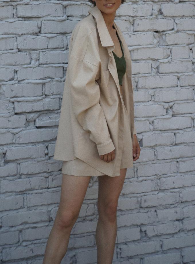 Костюм с шортами из льна REAL SNDR_SSR5b, фото 1 - в интернет магазине KAPSULA