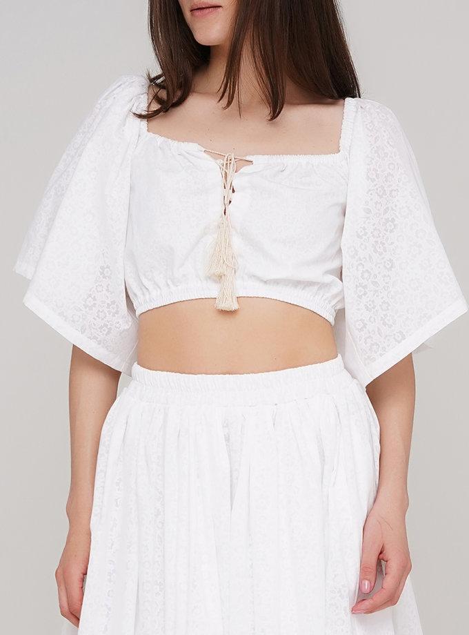 Бавовняна блуза з вільним рукавом AY_3200, фото 1 - в интернет магазине KAPSULA