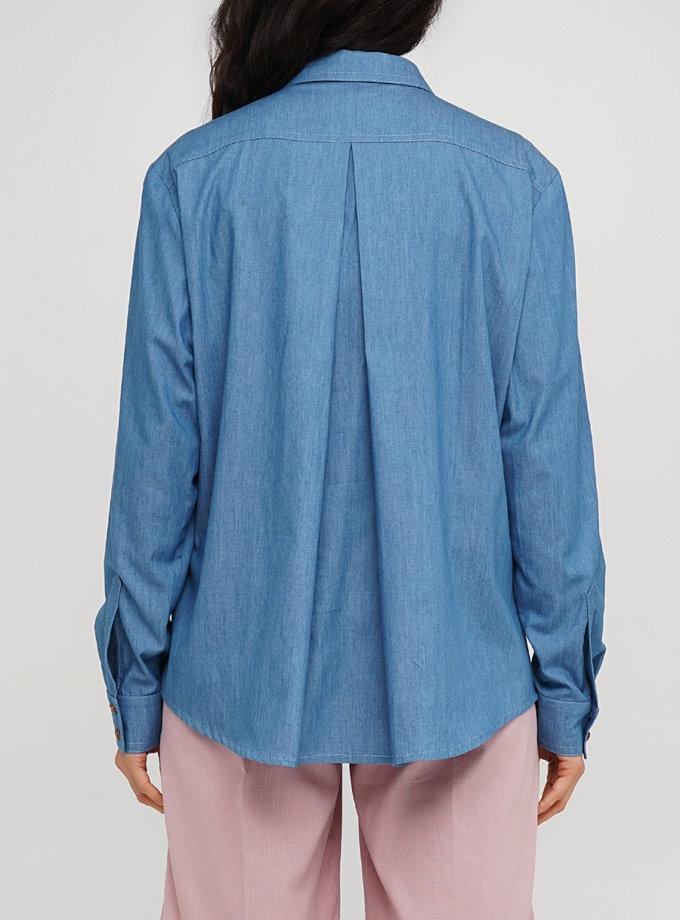 Бавовняна сорочка вільного крою AY_3231, фото 1 - в интернет магазине KAPSULA