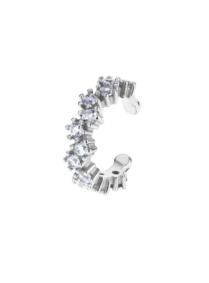 Срібний Кафф з фіанітами Sweet Dreams Silver BRND_E66110062, фото 1 - в интернет магазине KAPSULA