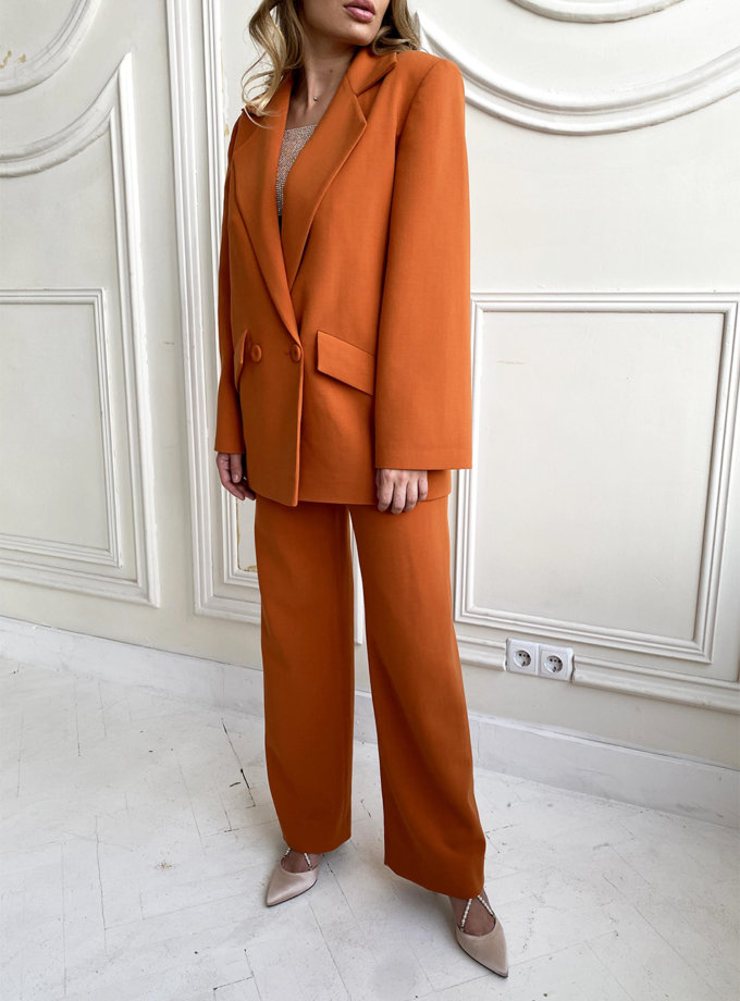 Шерстяной костюм с прямыми брюками LUSSO_SS21_7, фото 1 - в интернет магазине KAPSULA