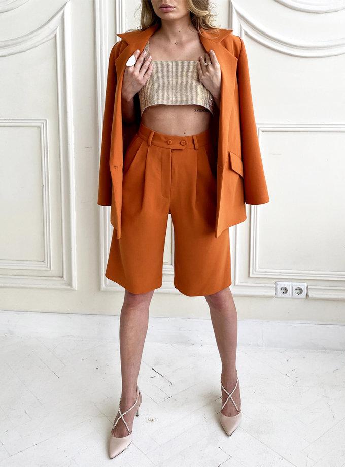 Шерстяной костюм с бермудами LUSSO_SS21_9, фото 1 - в интернет магазине KAPSULA