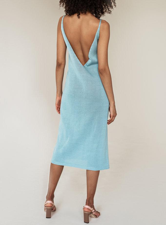 Хлопковое платье миди Моника WKMF_55_1, фото 1 - в интернет магазине KAPSULA
