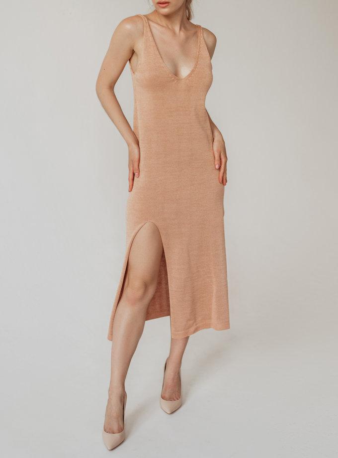 Хлопковое платье миди Моника WKMF_55_2, фото 1 - в интернет магазине KAPSULA