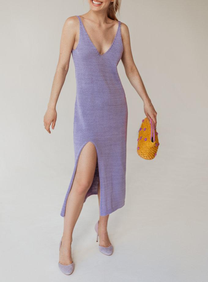 Хлопковое платье миди Моника WKMF_55_3, фото 1 - в интернет магазине KAPSULA