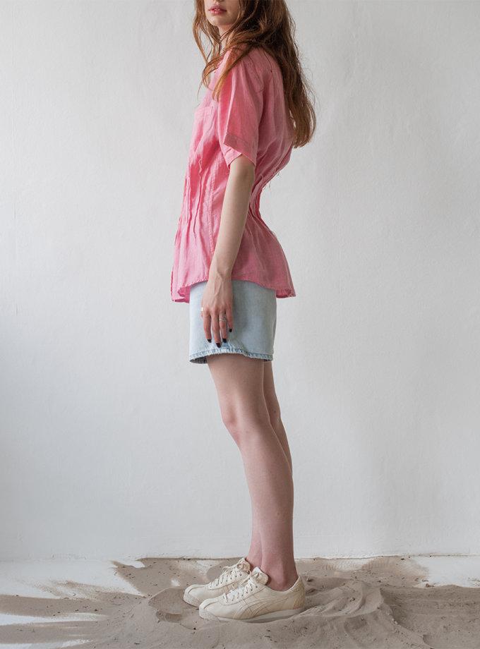 Лляна сорочка з короткими рукавами NNB_PINK.short.linen, фото 1 - в интернет магазине KAPSULA