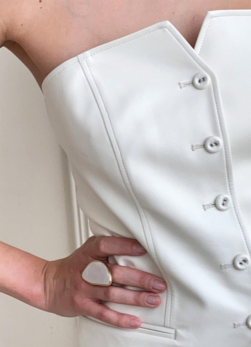 Костюм-тройка из эко-кожи LUSSO_SS21_10, фото 1 - в интернет магазине KAPSULA