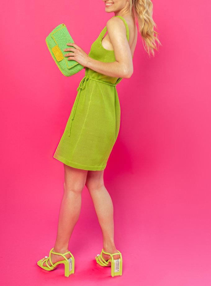 Платье мини из льна Мила WKMF_59_1, фото 1 - в интернет магазине KAPSULA