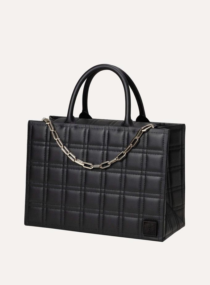 Шкіряна сумка 5x7 Bag in Black LPR_5-7-B-Black, фото 1 - в интернет магазине KAPSULA