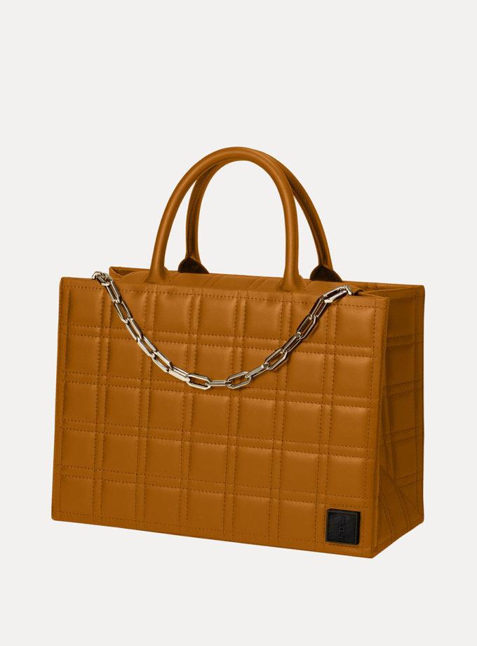 Кожаная сумка 5x7 Bag in Brown LPR_5-7-B-Brown, фото 1 - в интернет магазине KAPSULA
