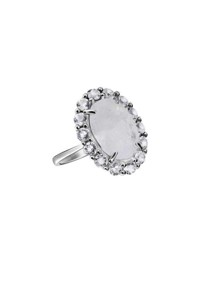 Срібний перстень з місячним каменем BRND_КЛКОС015918, фото 1 - в интернет магазине KAPSULA