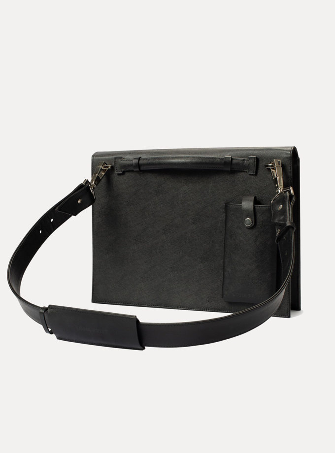 Шкіряна сумка Large Alex Note in black LPR_AL-NO-L-black, фото 1 - в интернет магазине KAPSULA