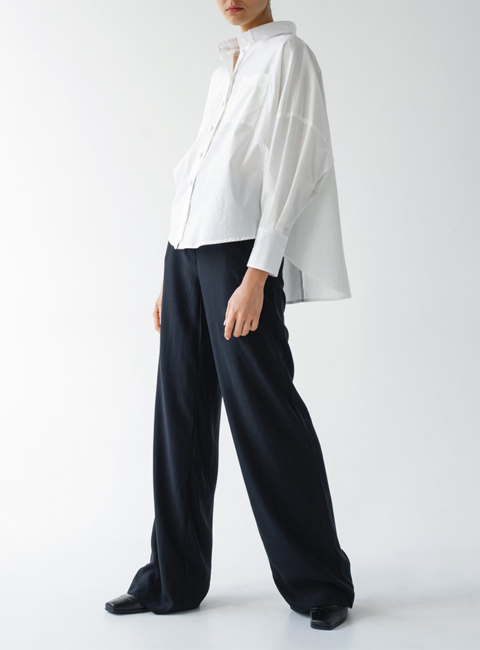 Бавовняна сорочка вільного крою LAB_00059, фото 1 - в интернет магазине KAPSULA