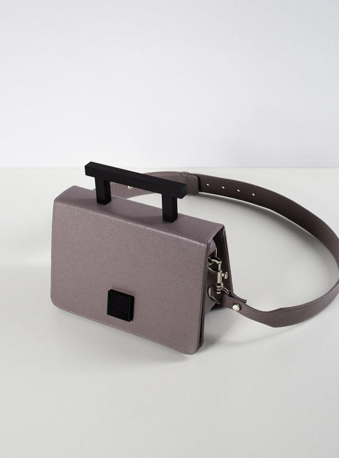 Шкіряна сумка Medium Nicole in grey LPR_NI-BA-M-grey, фото 1 - в интернет магазине KAPSULA