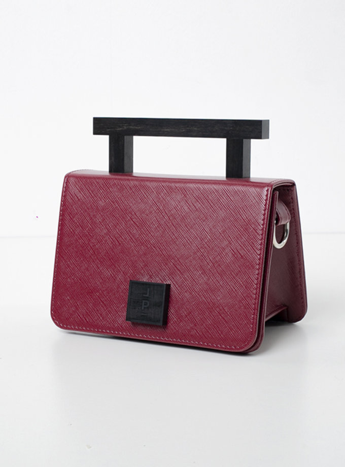 Кожаная сумка Small Nicole in wine LPR_NI-BA-S-wine-1, фото 1 - в интернет магазине KAPSULA
