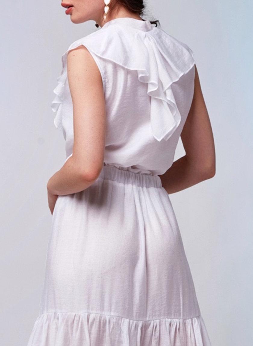 Блуза с бантом CVR_BANTBEL-SS21, фото 1 - в интернет магазине KAPSULA