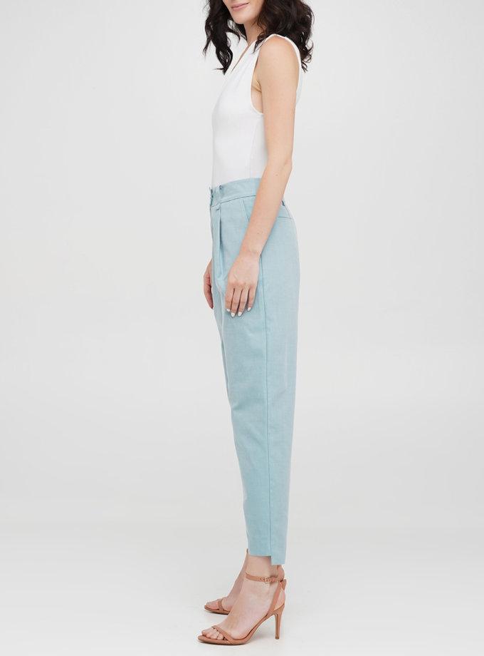 Бавовняні брюки-сигаретки IP_CG10091, фото 1 - в интернет магазине KAPSULA