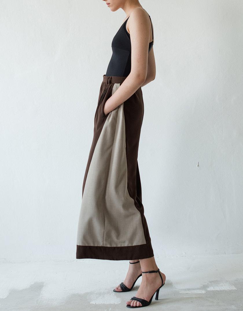 Легкие брюки палаццо из шерсти NNB_DOUBLE_PANTS_BROWN, фото 1 - в интернет магазине KAPSULA