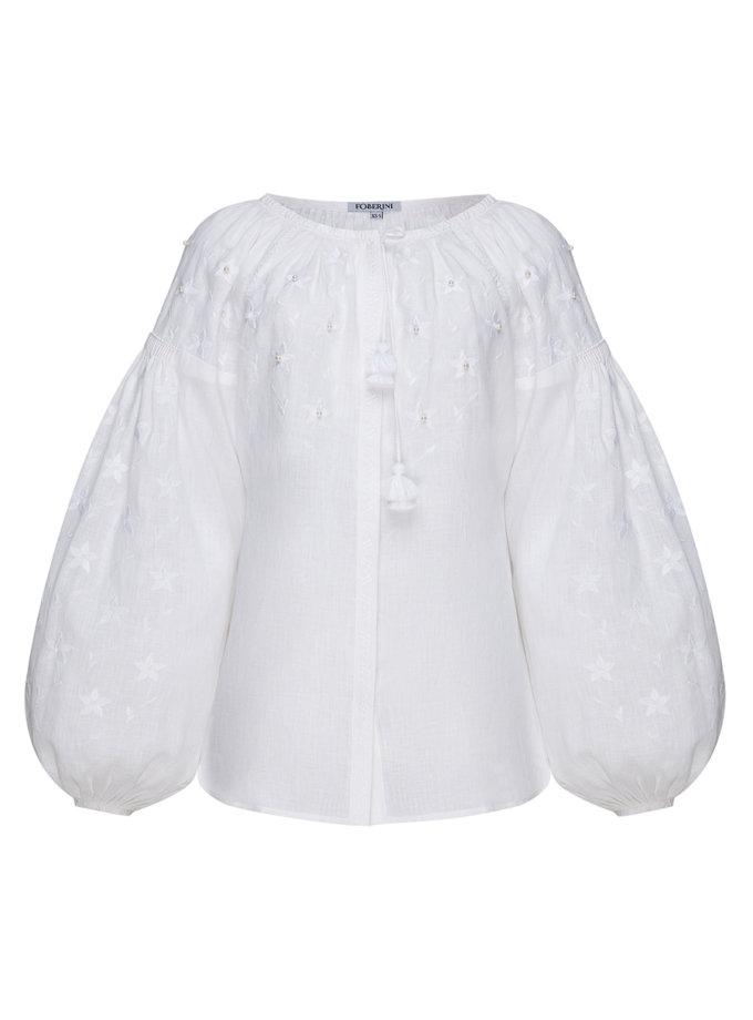 Блуза з вишивкою Перли FOBERI_SS19026, фото 1 - в интернет магазине KAPSULA
