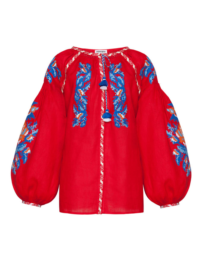 Блуза з вишивкою Клер FOBERI_SS20126, фото 1 - в интернет магазине KAPSULA