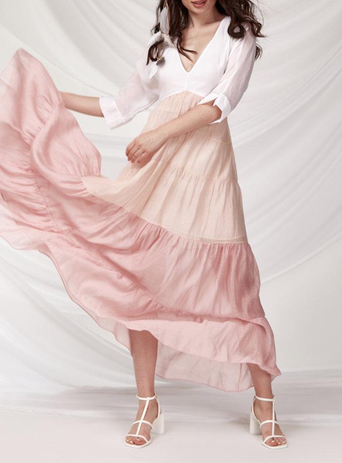 Сукня міді з регульованим поясом CVR_GRADPINK-SS21, фото 1 - в интернет магазине KAPSULA