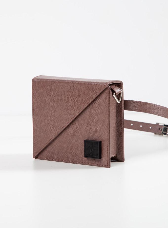 Шкіряна сумка Alex Bag in chocolate LPR_AL-BE-BA-chocolate, фото 1 - в интернет магазине KAPSULA