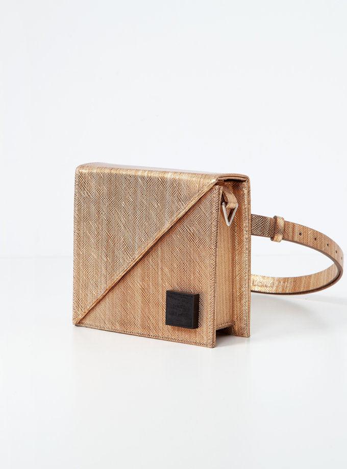 Шкіряна сумка Alex Bag in gold LPR_AL-BE-BA-gold, фото 1 - в интернет магазине KAPSULA