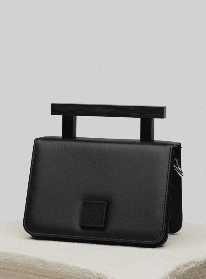 Шкіряна сумка Medium Nicole Bag in Black LPR_NI-BA-M-Black, фото 1 - в интернет магазине KAPSULA