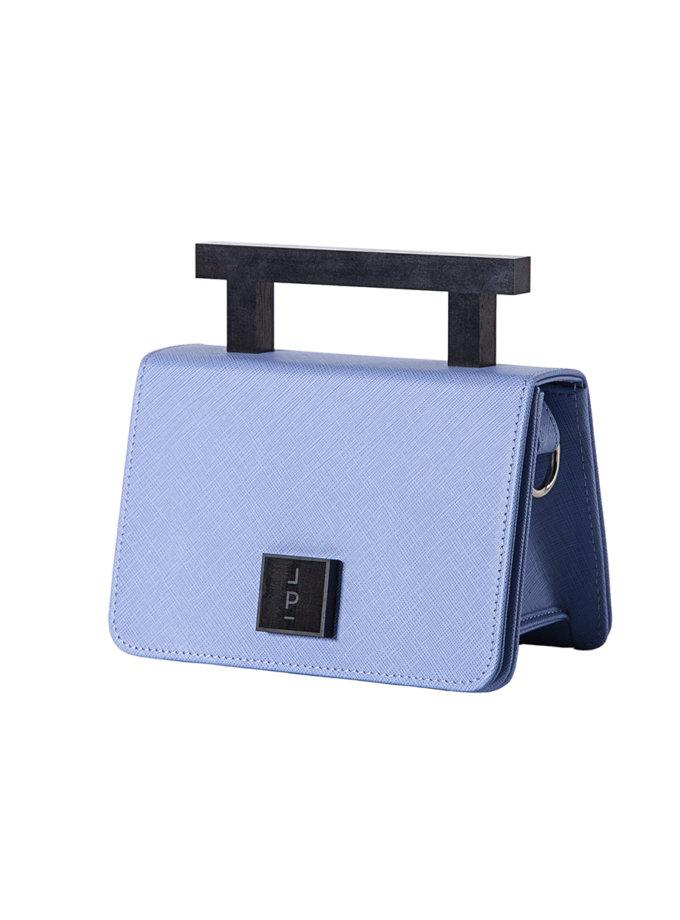 Шкіряна сумка Small Nicole in blue LPR_NI-BA-S-Blue-1, фото 1 - в интернет магазине KAPSULA