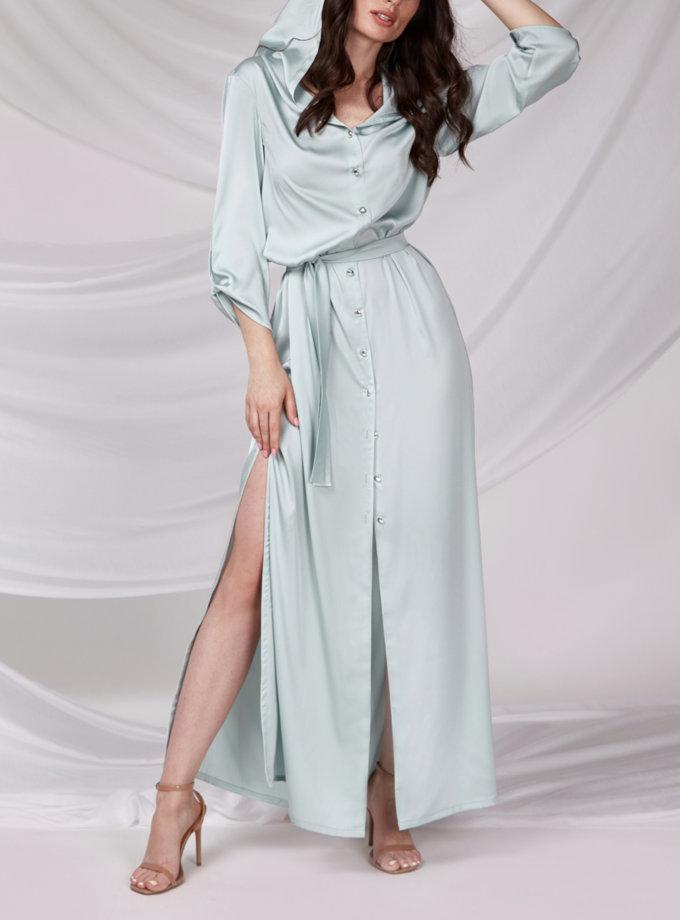 Платье макси с капюшоном CVR_MINT-SS21, фото 1 - в интернет магазине KAPSULA