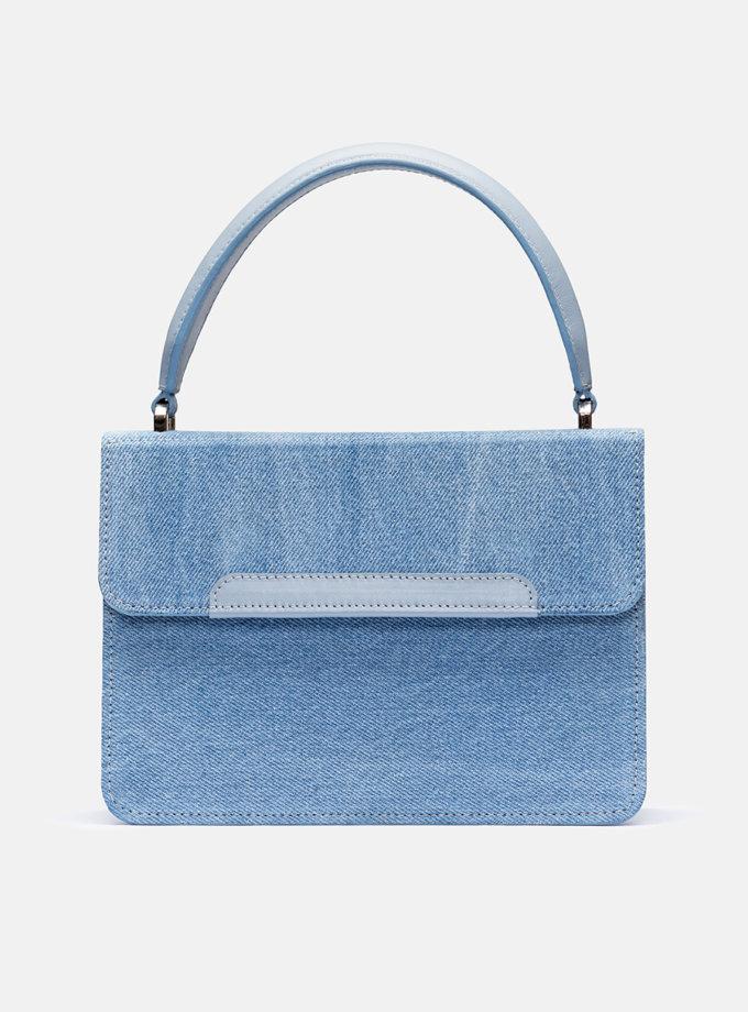 Кожаная сумка Boy Bag Upcycling Collection Blue SNKD_P0067S, фото 1 - в интернет магазине KAPSULA