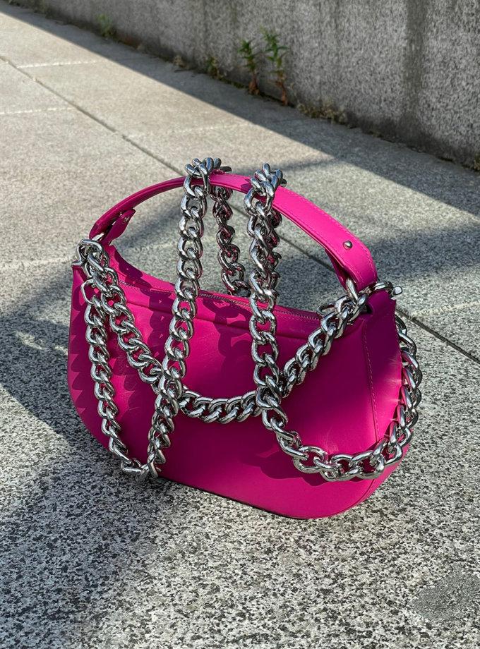 Кожаная сумка Saddle Bag in Magenta SNKD_P0070S, фото 1 - в интернет магазине KAPSULA