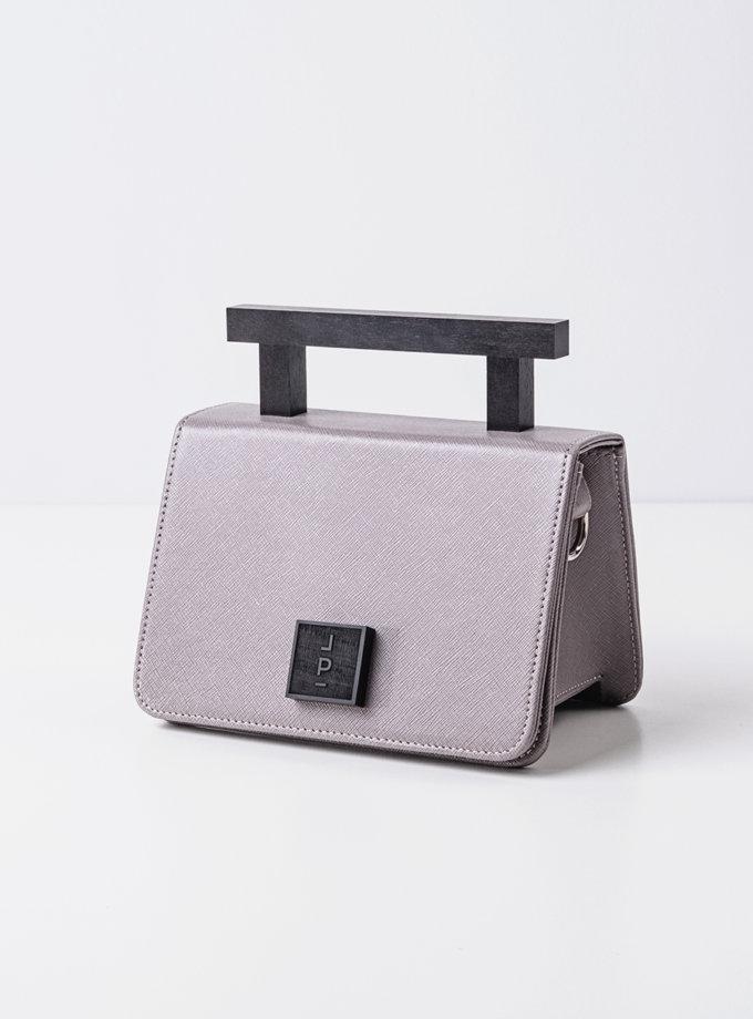 Шкіряна сумка Small Nicole in grey LPR_NI-BA-S-grey, фото 1 - в интернет магазине KAPSULA