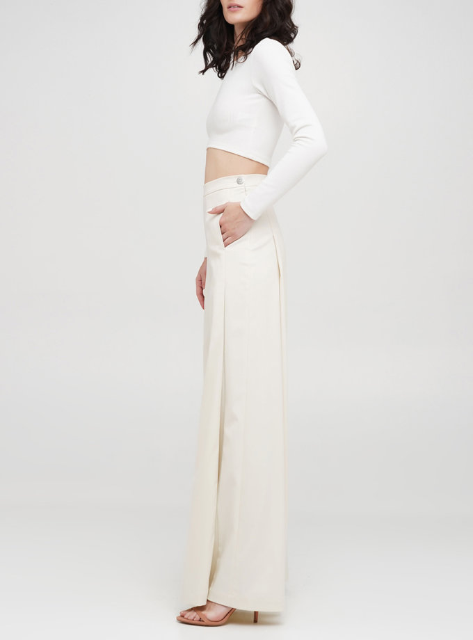 Бавовняні брюки-палаццо IP_PL10093, фото 1 - в интернет магазине KAPSULA