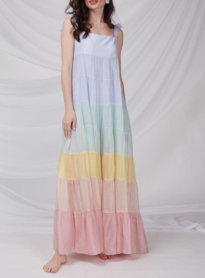 Воздушное платье макси CVR_RAINBOW-SS21, фото 1 - в интернет магазине KAPSULA