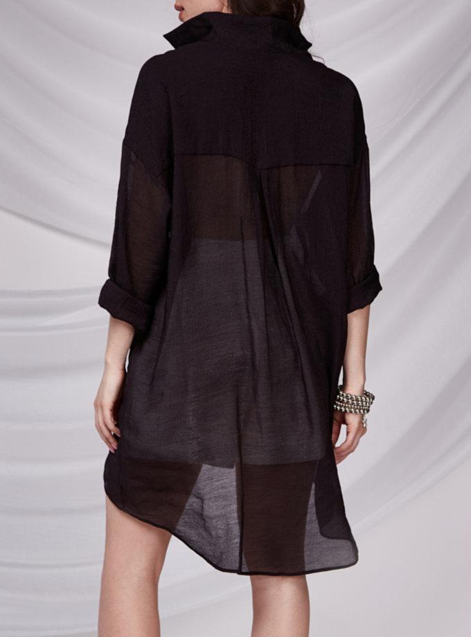 Подовжена сорочка CVR_SHTBLACK-SS21, фото 1 - в интернет магазине KAPSULA