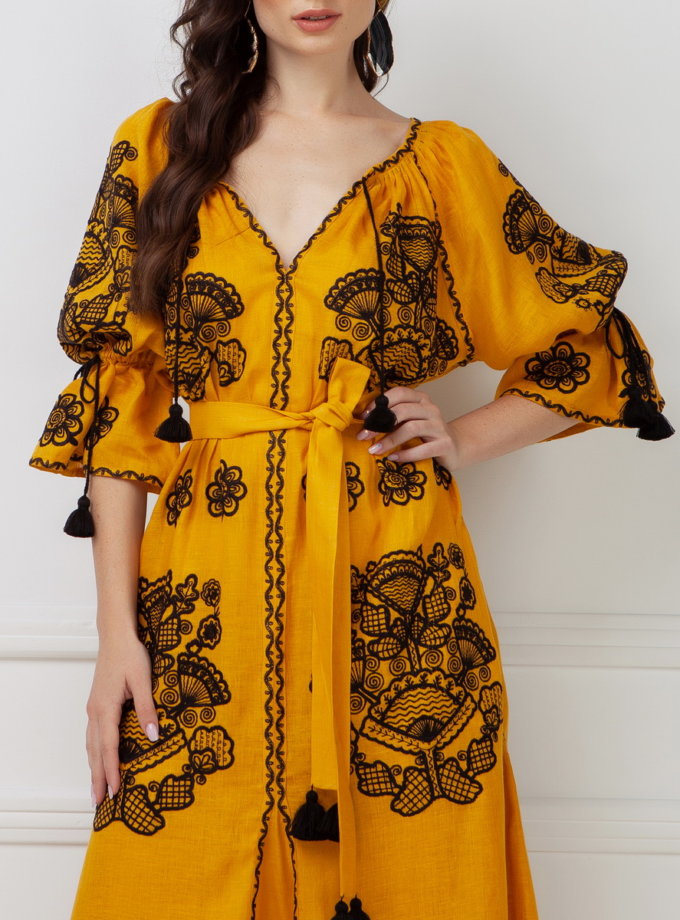 Платье-вышиванка Виктори FOBERI_SS19008, фото 1 - в интернет магазине KAPSULA